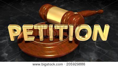 Petition Law Concept 3D Illustration
