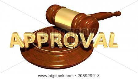 Approval Law Concept 3D Illustration