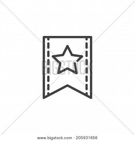 Favorite line icon, outline vector sign, linear style pictogram isolated on white. Symbol, logo illustration. Editable stroke