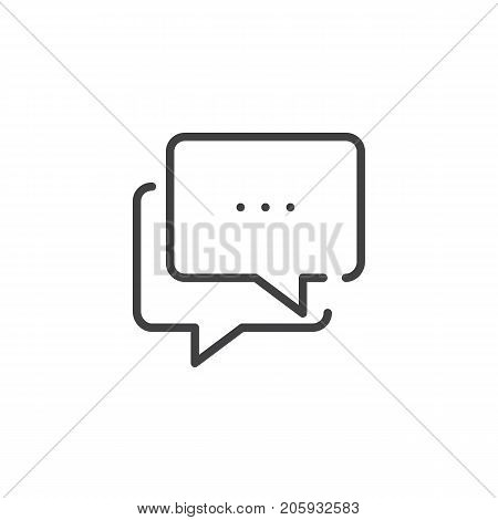 Chat line icon, outline vector sign, linear style pictogram isolated on white. Symbol, logo illustration. Editable stroke