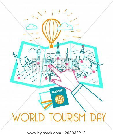 Greeting Card World Tourism Day