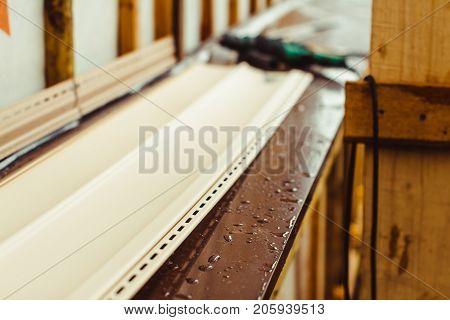 wooden wall siding Natura batsgroound lies before installation