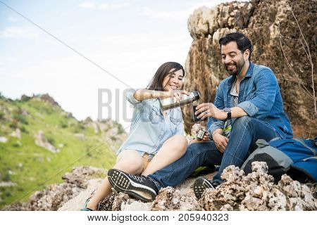 Sharing Coffee In The Mountains