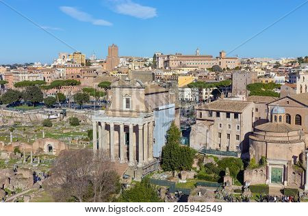 View of the Forum Romanum (Roman Forum), Rome, Italy