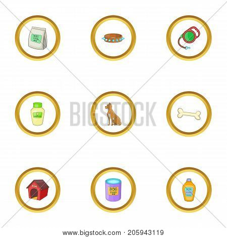 Grooming icons set. cartoon style set of 9 grooming vector icons for web design