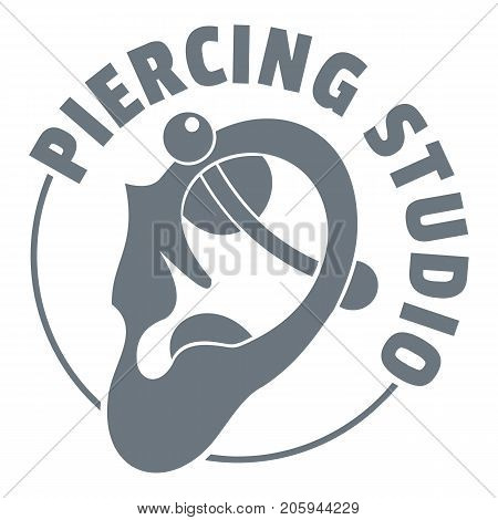 Piercing logo. Simple illustration of piercing vector logo for web