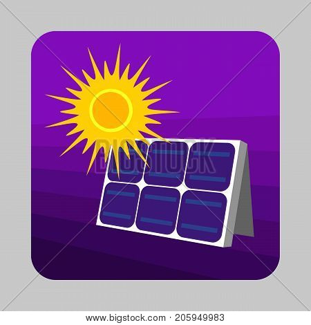 Solar panel energy concept background. Cartoon illustration of solar panel energy vector concept background for web design