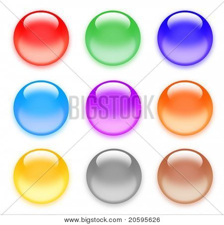 Multi-color glass Spheres