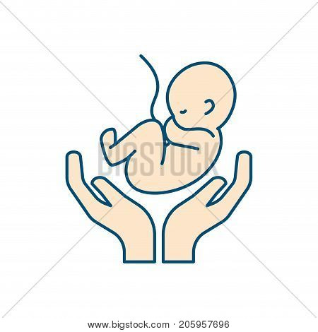 baby umbilical cord and new life vector illustration