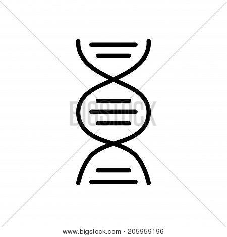 line dna science cell medicine molecule vector illustration
