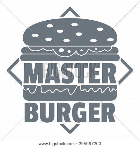 Master burger logo. Simple illustration of master burger vector logo for web