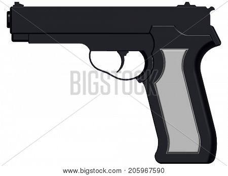3D image of handgun