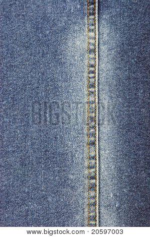 close-up of denim cloth