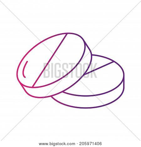 line pills pharmaceutical medicine to treatment vector illustration
