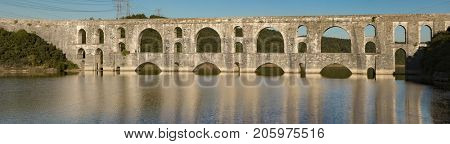 The Maglova Aqueduct built by Master Ottoman Architect Sinan Istanbul Turkey