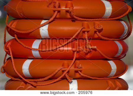 Orange Life Rings