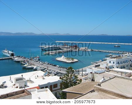 Chora town Naxos Island at Cyclades Greece