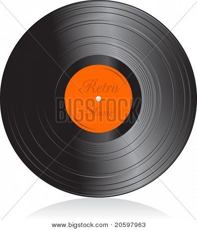 Vector illustration of vinyl record