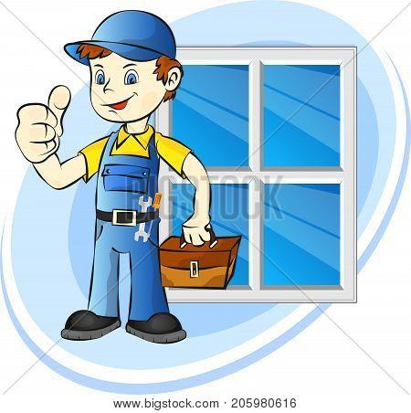 Windows installer for business illustration vector installation