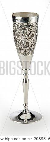Engraved Silver Goblet