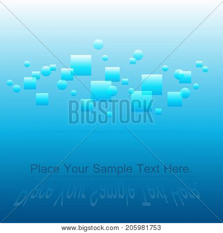 Bright positive blue background. light and space. Weightlessness. Radiance. Vector illustration. poster