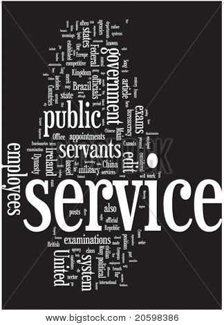 Service word cloud illustration. Graphic tag collection.