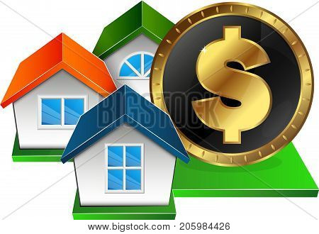 Real estate for money symbol for business