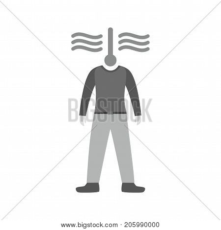 Angry, hot, tempered icon vector image. Can also be used for Personality Traits. Suitable for web apps, mobile apps and print media.