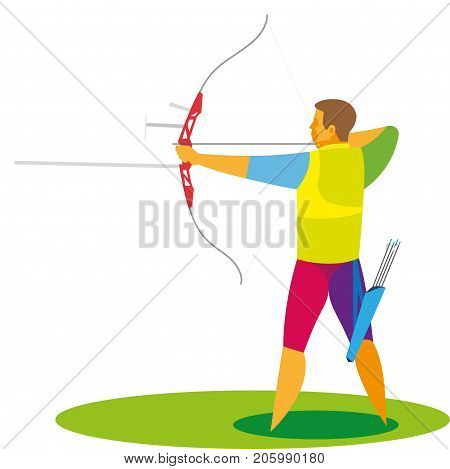 the young archer participates in the major competitions