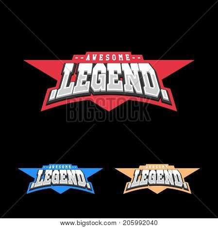 Sport Retro Lettering Oo Emblem. Legend T-shirt Design Template