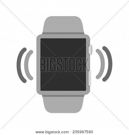 Mode, watch, vibrate icon vector image. Can also be used for Smart Watch. Suitable for use on web apps, mobile apps and print media