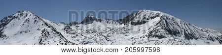 Anorra mountains pano from Grand Valira station