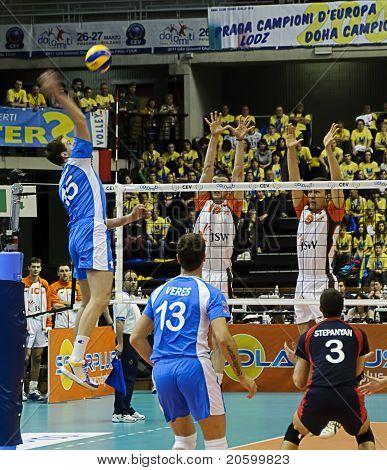 Cev Volley Champions League 2010/2011 Final Four - Jastrzebski Wegiel Vs Dinamo Moscow