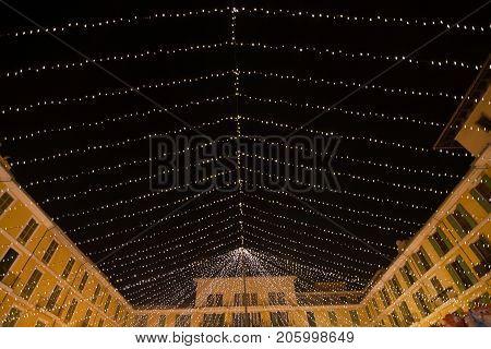 Plaza Mayor Christmas Light Decorations