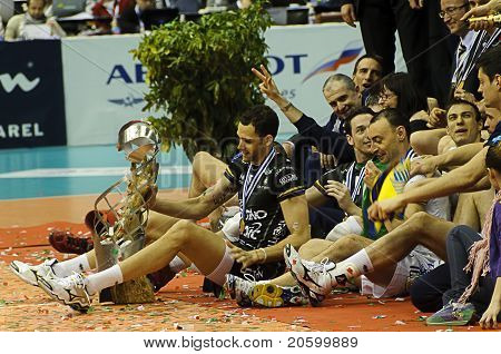 Cev Volley Champions League 2010/2011 - Final Four - Trentino Betclic Players Celebrating victory