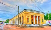 Gostiny Dvor, provincial Neoclassical trading arcades in Kostroma, the Golden Ring of Russia poster