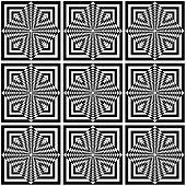 Seamless geometric op art pattern. Vector illustration. poster