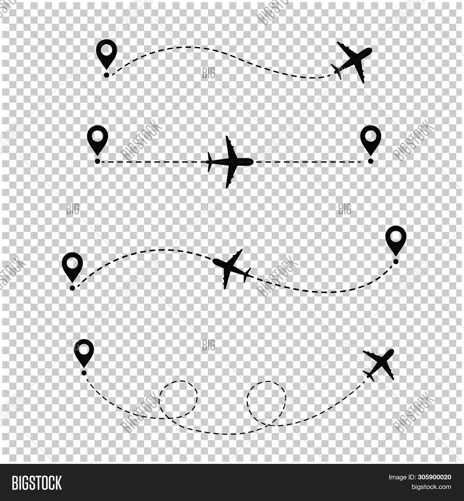 Airplane Dotted Line Image & Photo (Free Trial) | Bigstock