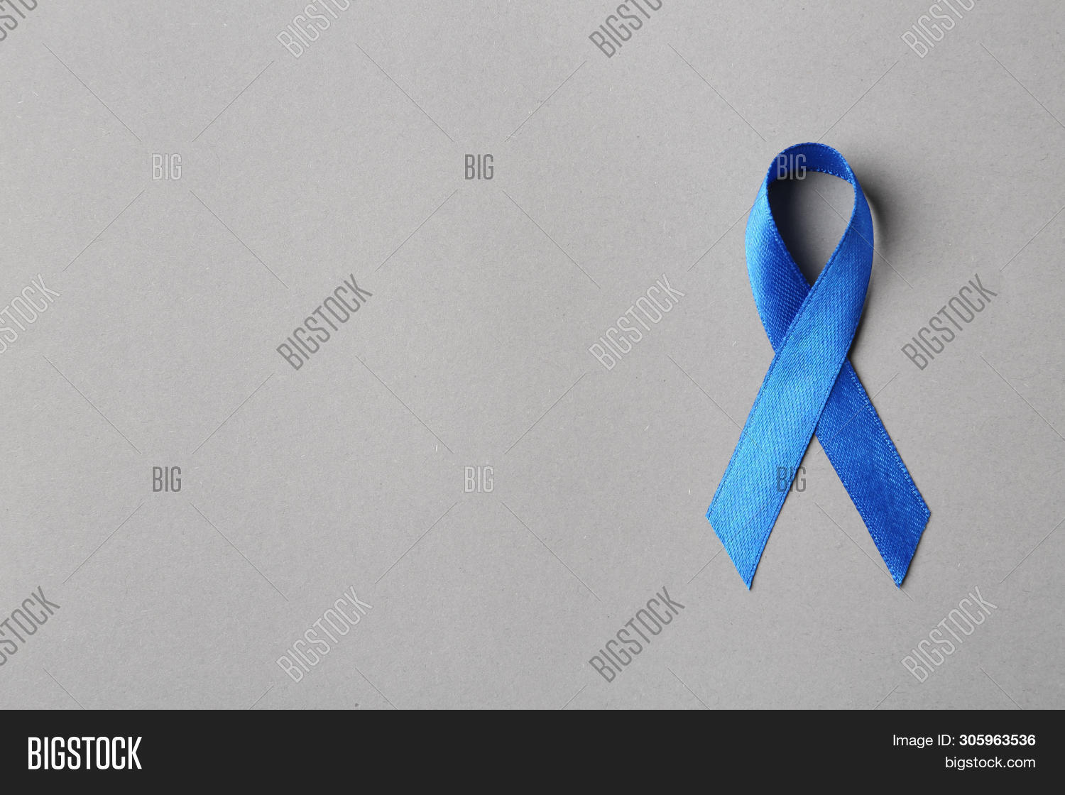 Blue Ribbon On Color Image Photo Free Trial Bigstock