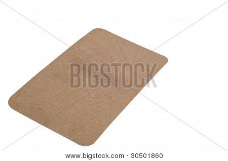 Blank Cardboard Paper