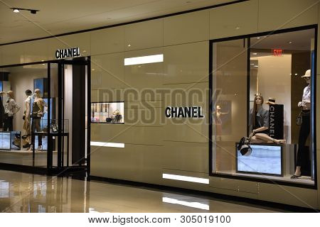 Houston, Tx - Apr 22: Chanel Store At The Galleria Mall In Houston, Texas, As Seen On Apr 22, 2019.