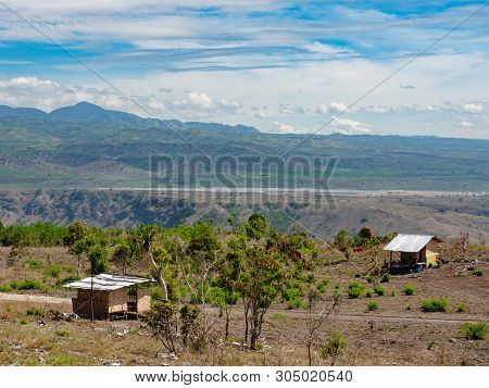 View Of The Dry Mountain Landscape In Barangay Bawing, General Santos City, South Cotabato On Mindan