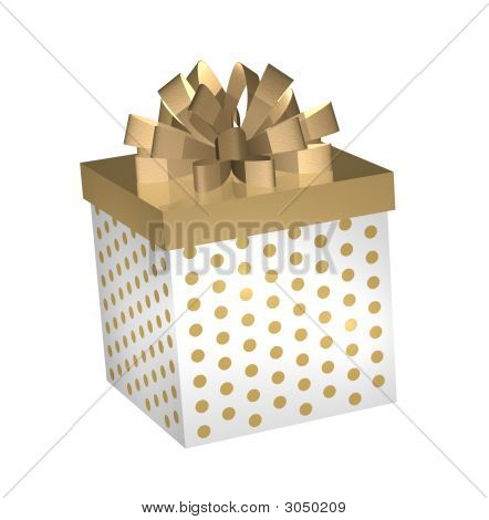 Gold And White Gift Gox