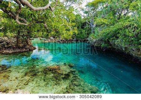 The Blue Lagoon, Port Vila, Efate, Vanuatu - famous tourist destination