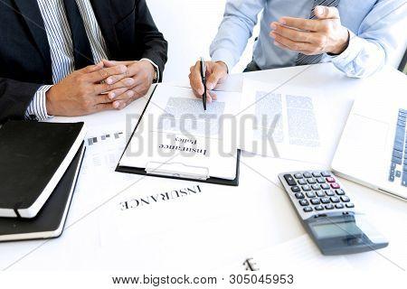 Sales Man Real Estate Agent Offer