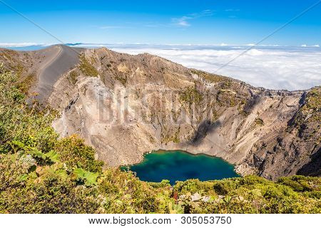 View To The Crater Of Irazu Volcano At Irazu Volcano National Park - Costa Rica