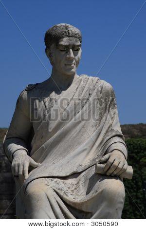 Statue auf Insel Korfu-Griechenland