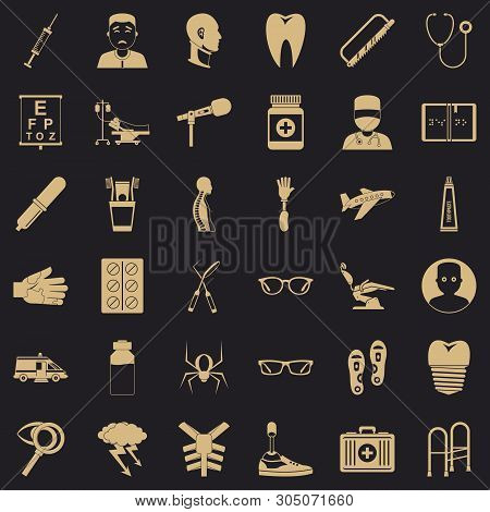 Med Care Icons Set. Simple Set Of 36 Med Care Vector Icons For Web For Any Design