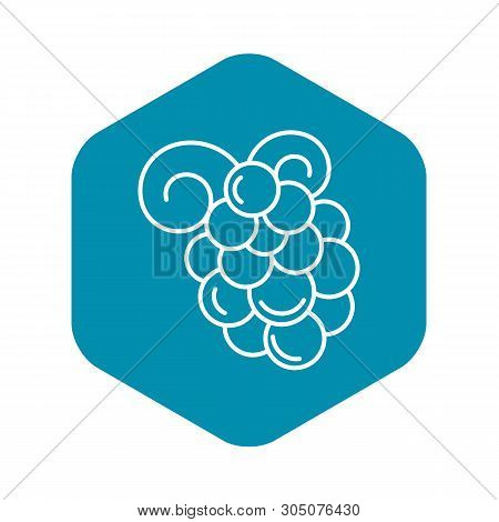Merlot Grape Icon. Outline Merlot Grape Vector Icon For Web Design Isolated On White Background