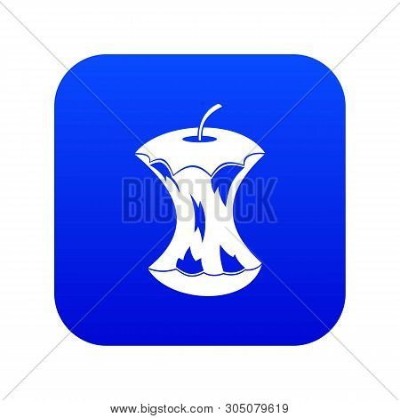 Apple Core Icon Digital Blue For Any Design Isolated On White Vector Illustration